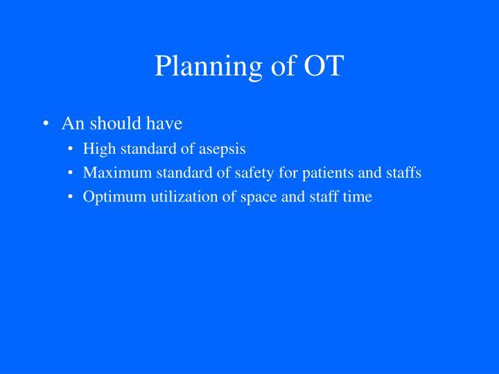 Planning of ot