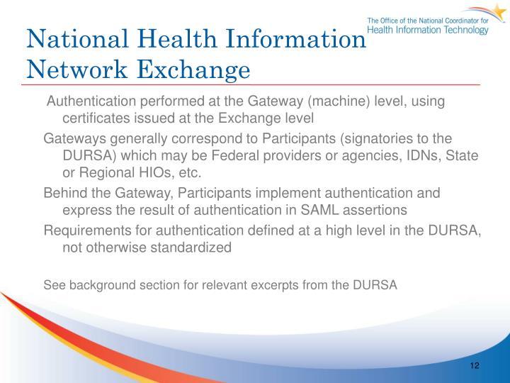 National Health Information Network Exchange