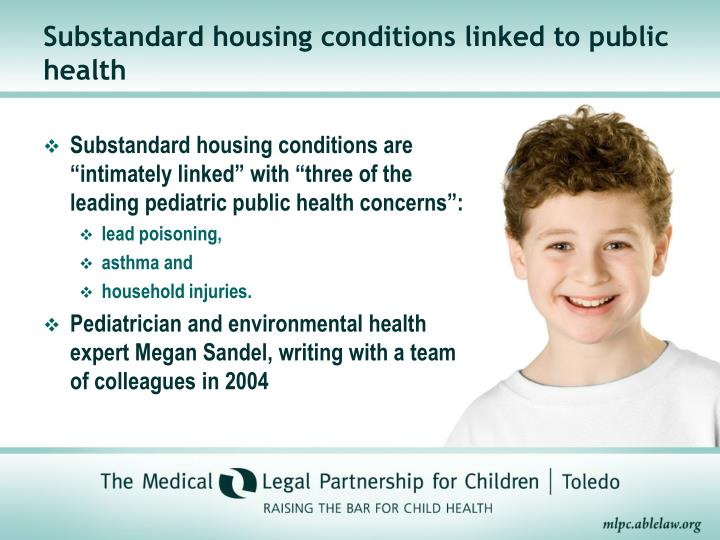 Substandard housing conditions linked to public health