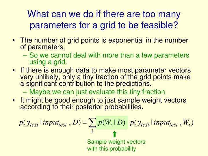 What can we do if there are too many parameters for a grid to be feasible?