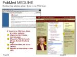pubmed medline getting the articles when there is no fsu icon