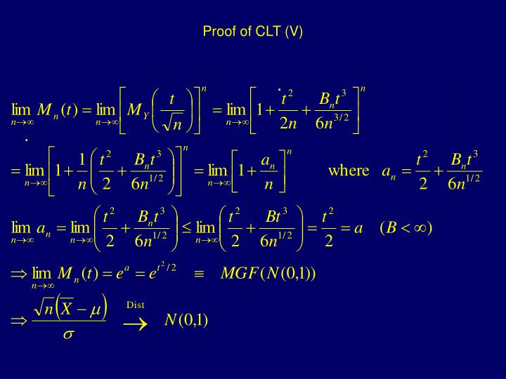 Proof of CLT (V)