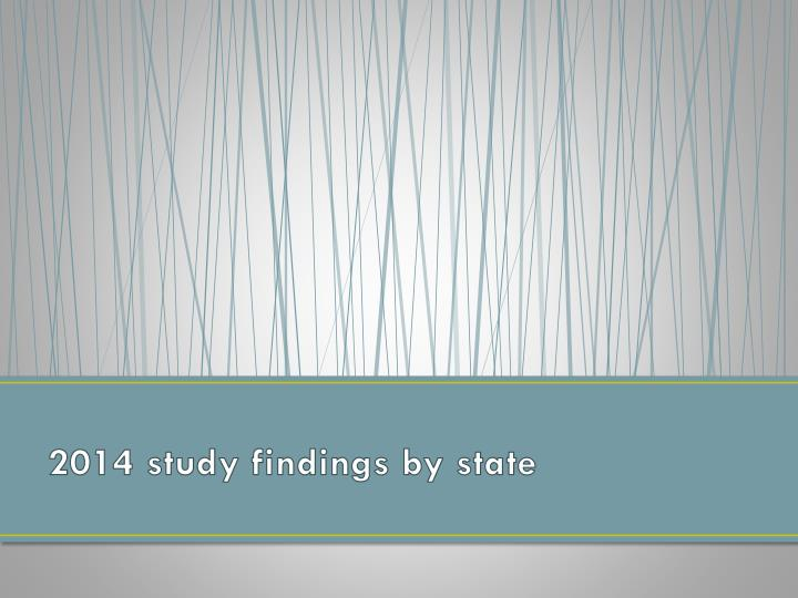 2014 study findings