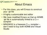 about emacs