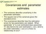covariances and parameter estimates