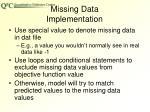 missing data implementation