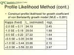 profile likelihood method cont
