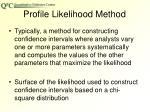 profile likelihood method