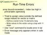 run time errors3