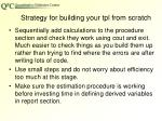 strategy for building your tpl from scratch1