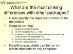 what are the most striking differences with other packages