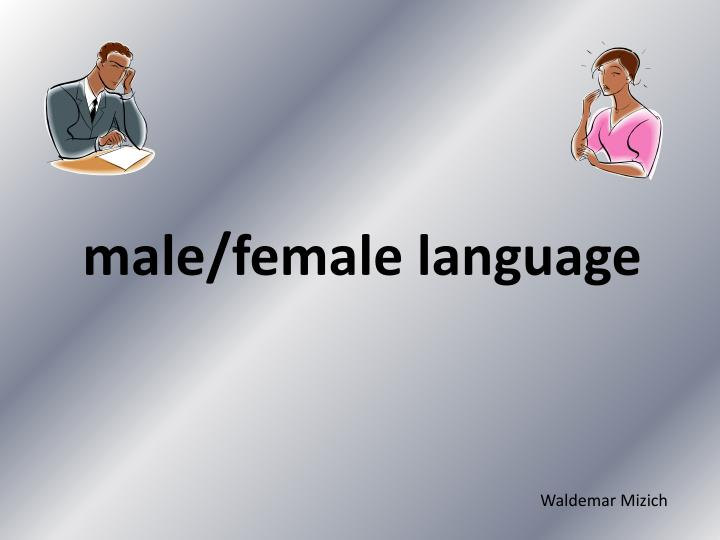 male female language n.