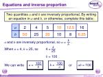equations and inverse proportion1