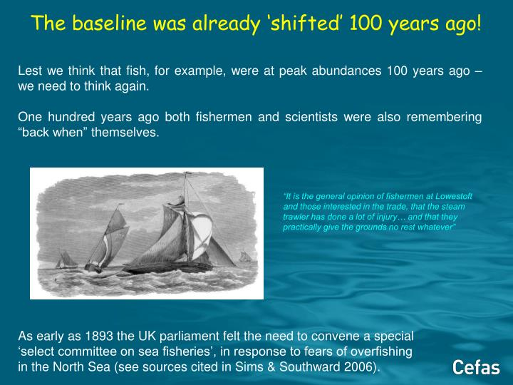 The baseline was already 'shifted' 100 years ago!