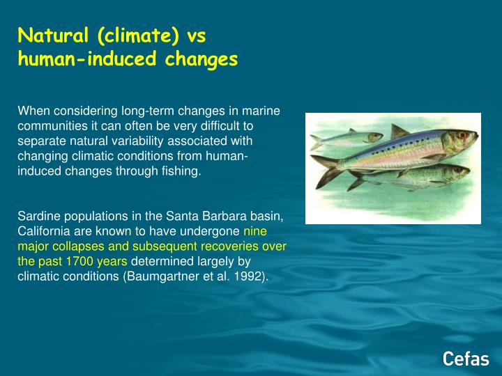 Natural (climate) vs human-induced changes