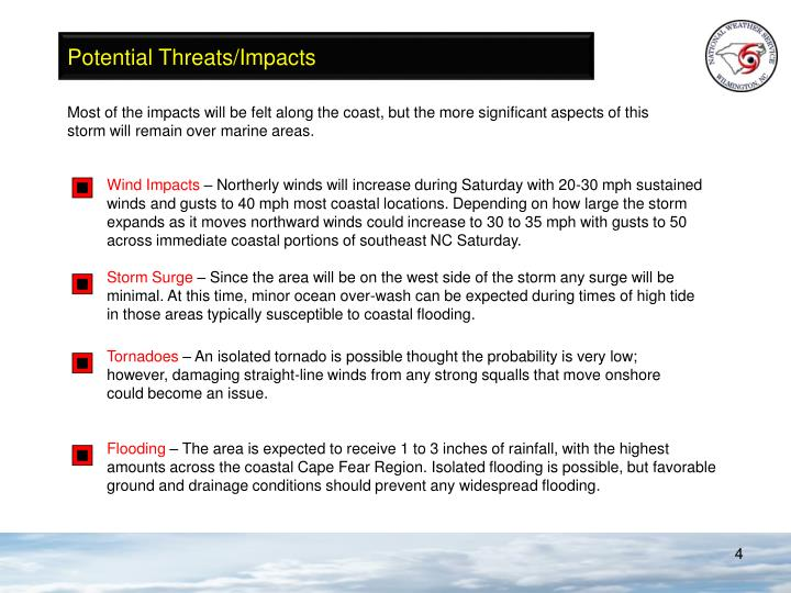 Potential Threats/Impacts