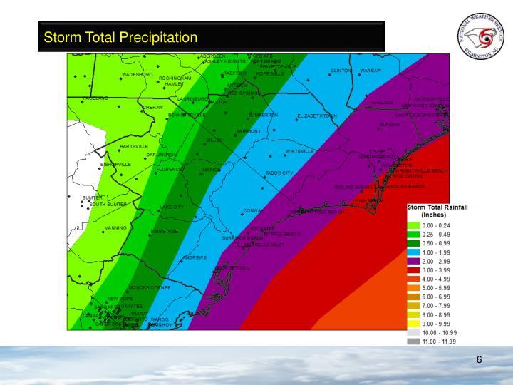 Storm Total Precipitation