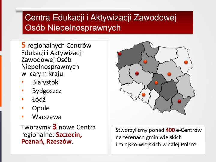 Centra Edukacji i Aktywizacji Zawodowej Osób Niepełnosprawnych