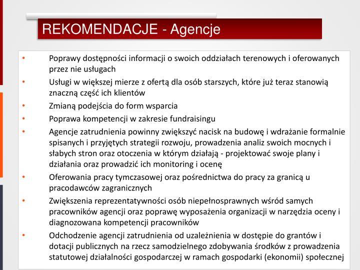REKOMENDACJE - Agencje