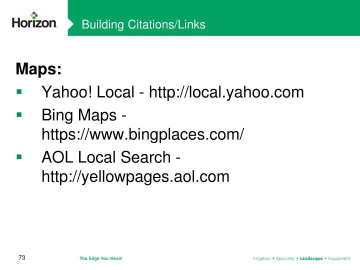Building Citations/Links