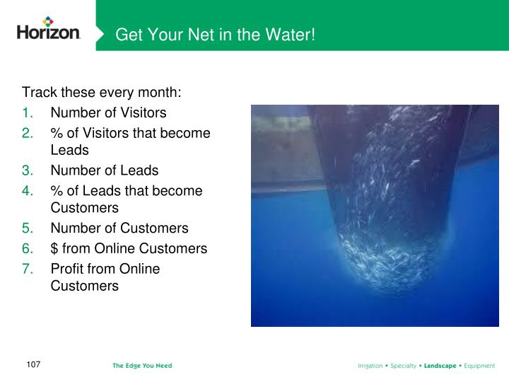 Get Your Net in the Water!