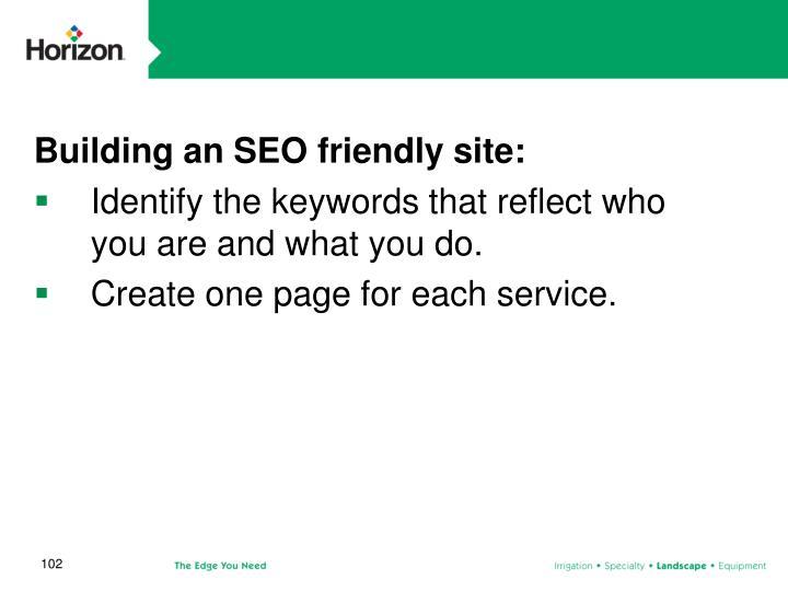 Building an SEO friendly site: