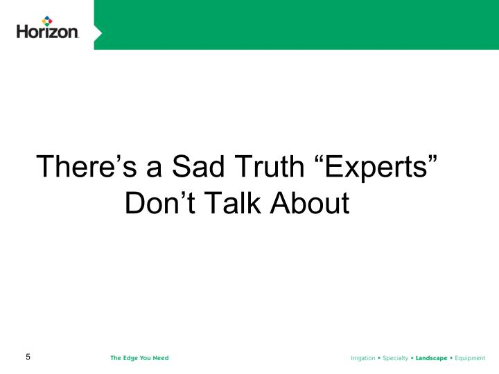 """There's a Sad Truth """"Experts"""" Don't Talk About"""