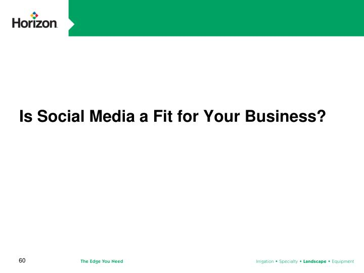 Is Social Media a Fit for Your Business?