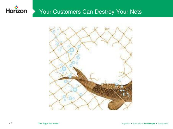 Your Customers Can Destroy Your Nets