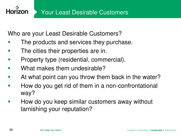 Your Least Desirable Customers