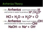 arrhenius theory