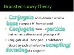 bronsted lowry theory2