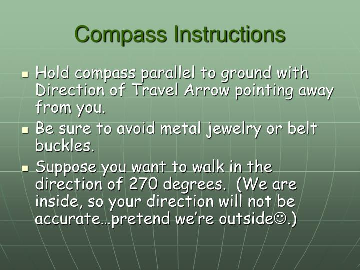 Compass Instructions