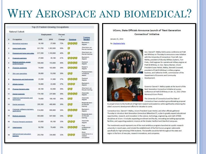 Why Aerospace and biomedical?