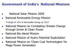 government of india s national missions