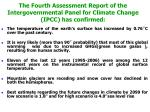 the fourth assessment report of the intergovernmental panel for climate change ipcc has confirmed
