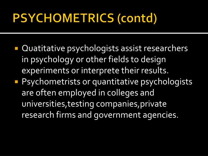PSYCHOMETRICS (