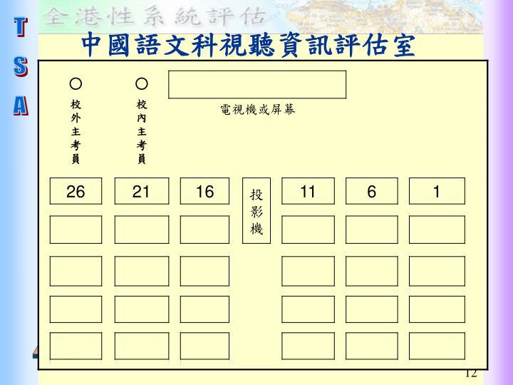 中國語文科視聽資訊評估室