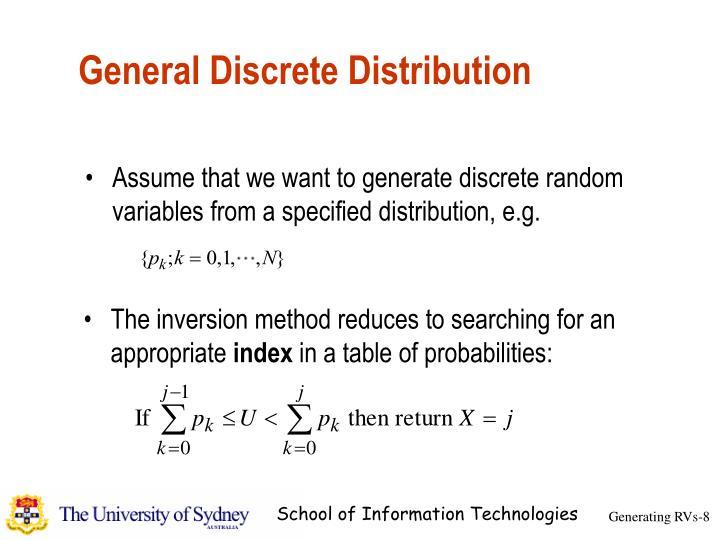 General Discrete Distribution