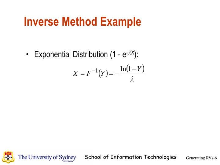 Inverse Method Example