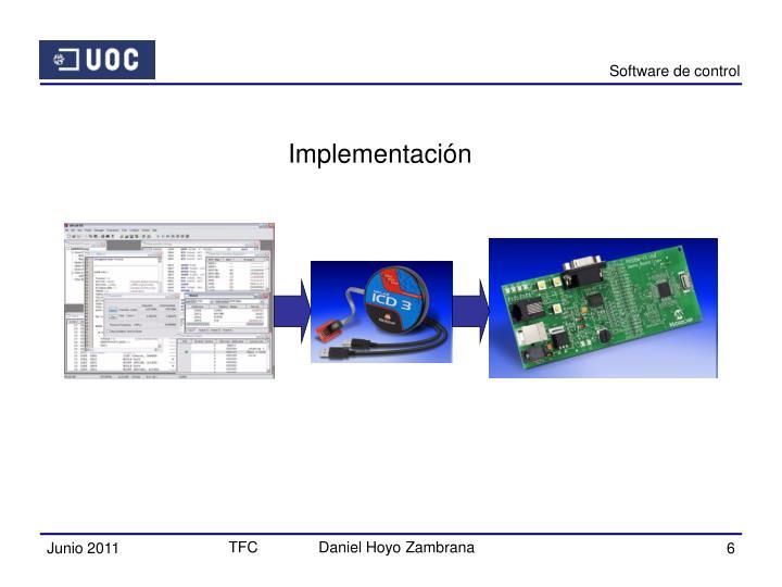 Software de control