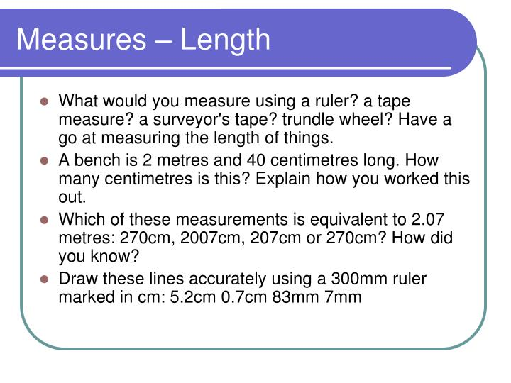 Measures – Length