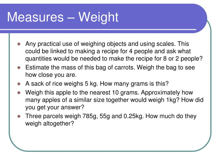 Measures – Weight