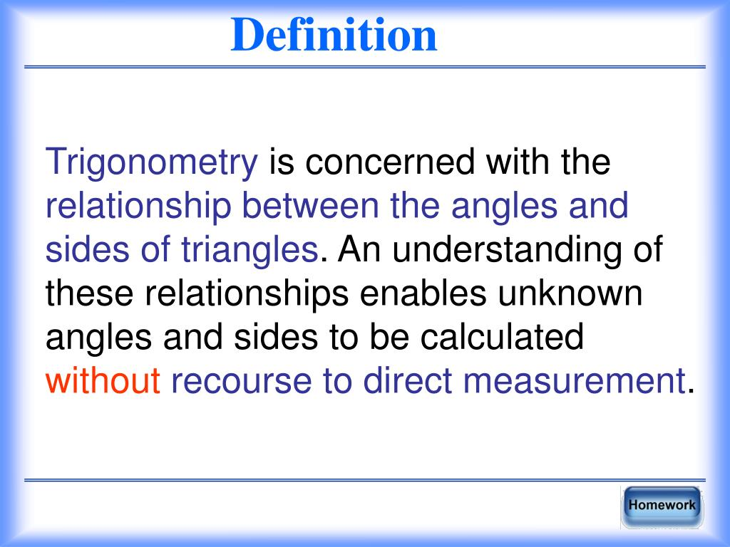 PPT - Trigonometry 10 1 PowerPoint Presentation - ID:5971791