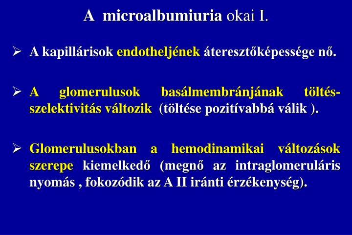 A  microalbumiuria