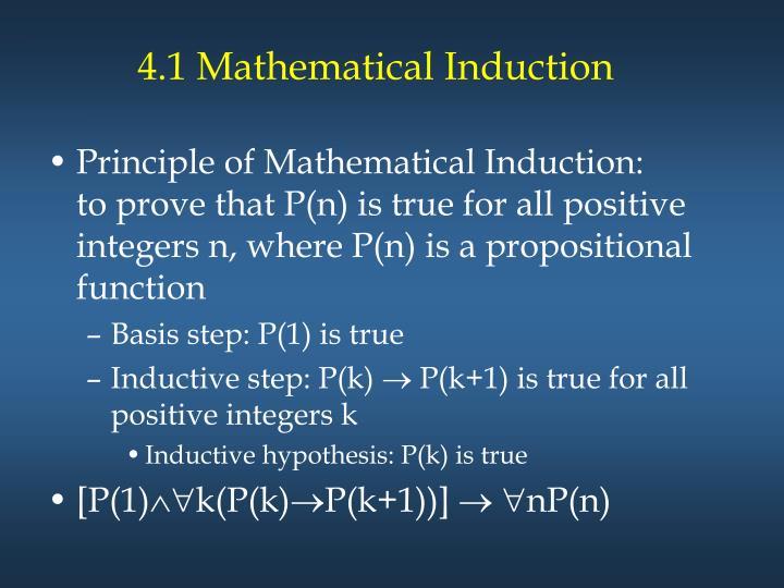 4.1 Mathematical Induction