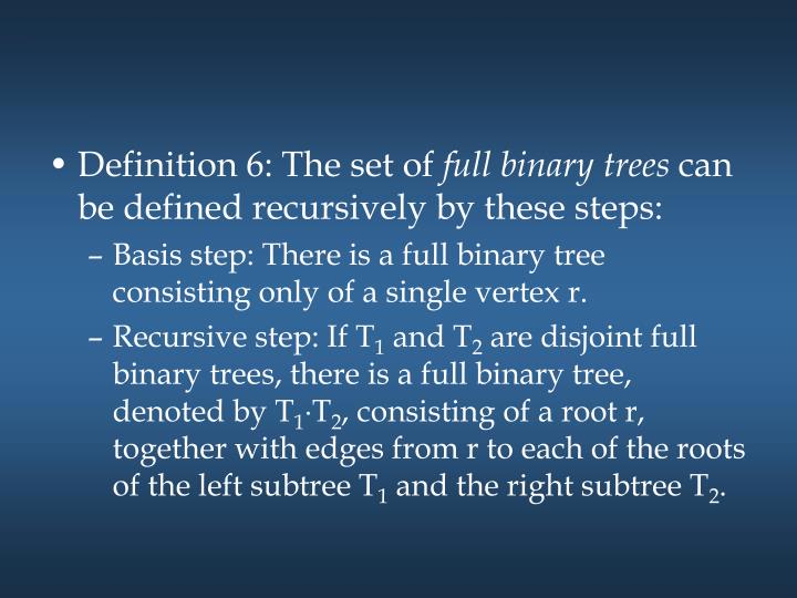 Definition 6: The set of