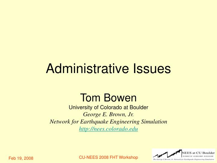 administrative issues n.