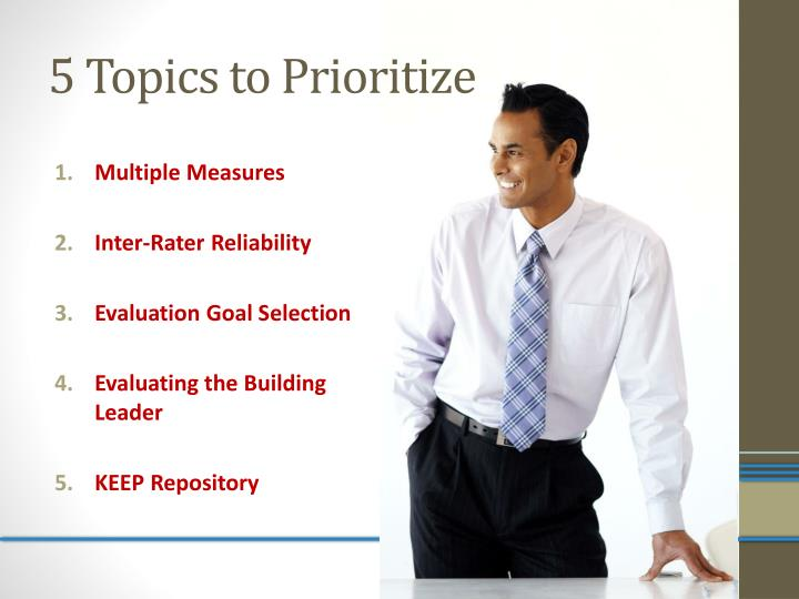 5 topics to prioritize