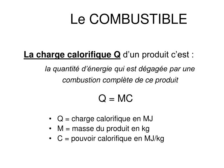 Le COMBUSTIBLE